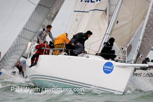 Garmin Hamble Winter Series week 8 photo copyright Paul Wyeth / www.pwpictures.com taken at Hamble River Sailing Club and featuring the IRC class