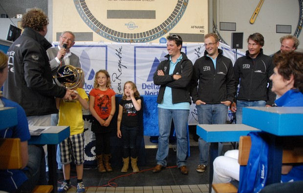 Team Elke receives the Hans Horrevoets Memorial Trophy after the RORC North Sea Race