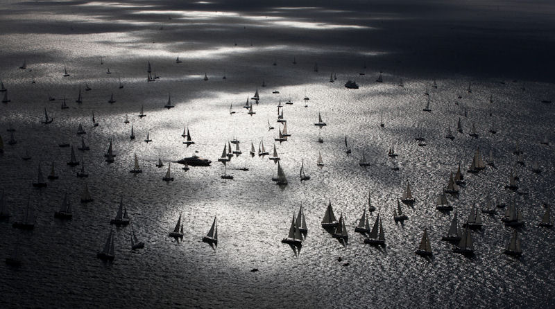 The start of the J.P. Morgan Asset Management Round the Island Race 2012