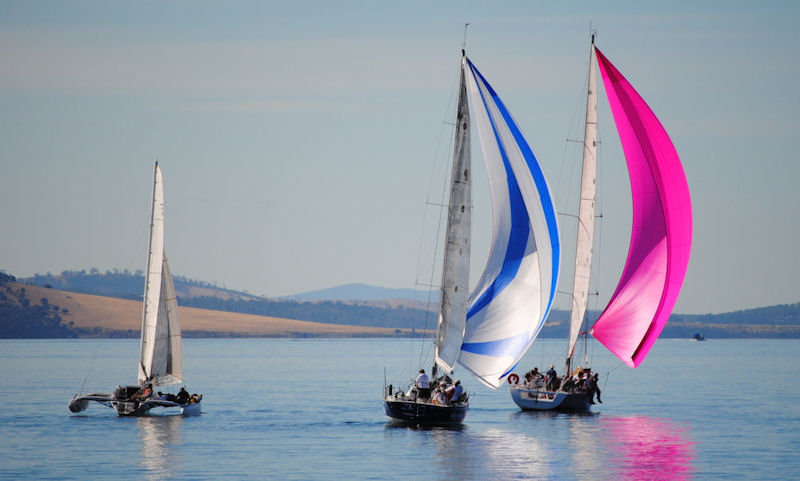 Drifting down the Derwent in the Derwent Sailing Squadron's Betsey Island race