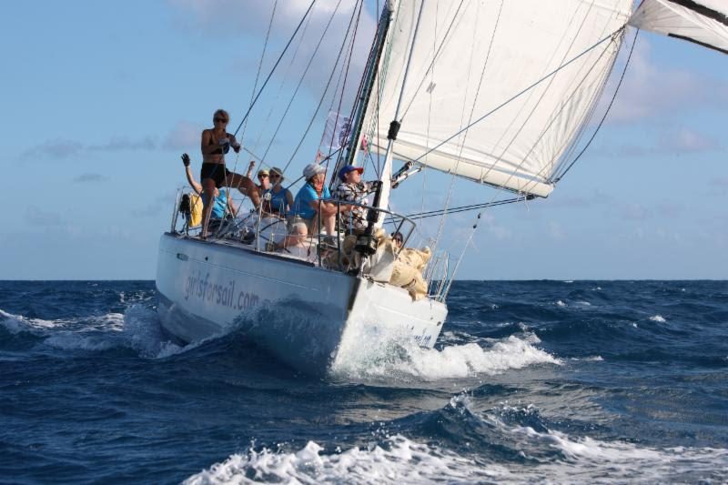 Two all-women teams will be competing in the 10th edition of the RORC Caribbean 600. Above: Girls for Sail's  First 40.7 Hot Stuff will once again be skippered by Sophie O'Neill - photo © Tim Wright / www.photoaction.com