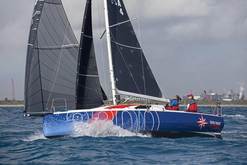 Three Jeanneau Sun Fast 3300s in the new Mixed Double-Handed class of the 2020 Ida Lewis Distance Race - photo © Billy Black