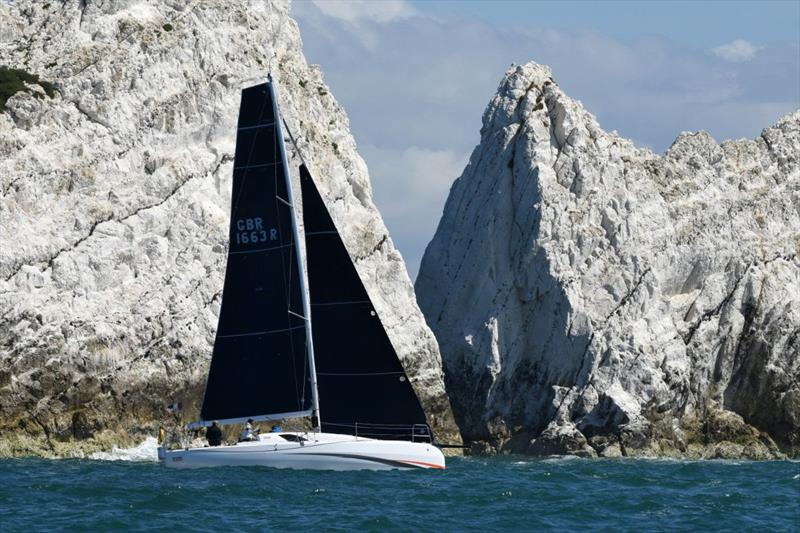 Jim Driver's Sun Fast 3300 Chilli Pepper took the win in RORC Race the Wight IRC Three in their maiden race - photo © Rick Tomlinson