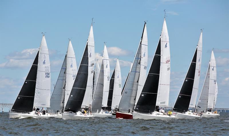 J/105 fleet - 2020 Helly Hansen NOOD Regatta Annapolis - photo © Will Keyworth