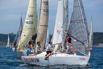 J/24 nationals at Atwell Martin Plymouth Race Week day 2