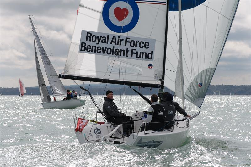 J70 RAF Benevolent Fund on weekend 1 of the Crewsaver Warsash Spring Championship - photo © Iain McLuckie
