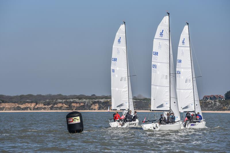 J70s on Crewsaver Warsash Spring Championship Weekend 1 - photo © Andrew Adams / www.closehauledphotography.com