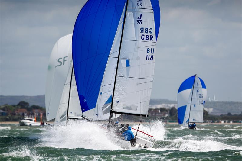 A baptism of fire on day 2 of the J/70 Europeans - photo © Paul Wyeth / RSrnYC