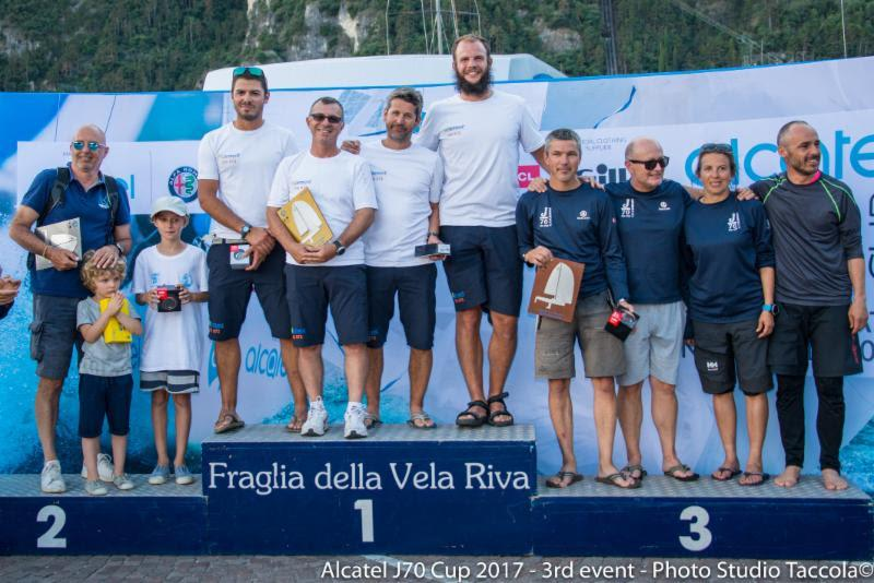 Corinthian podium in the Alcatel J/70 Cup Event 3 at Fraglia Vela Riva - photo © Studio Taccola