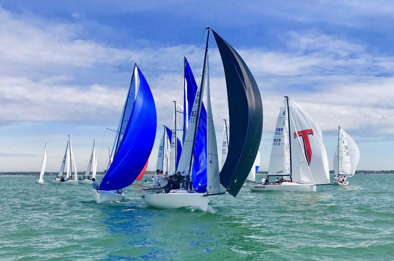 J/70 UK Nationals in Cowes day 1 - photo © Louay Habib / Key Yachting