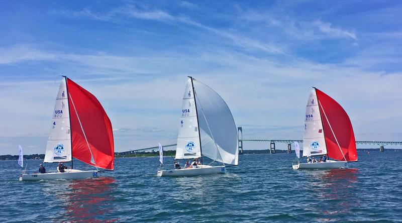 J/70 Youth Championship day 1 - photo © Stu Johnstone / J/Boats Inc