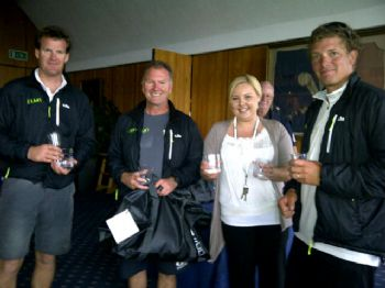 Second place Slightly Steamy at the MIQ Logistics J80 Nationals Prize Giving