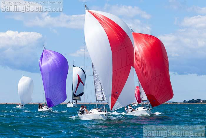 J80s at the Taittinger Royal Solent Yacht Club Regatta - photo © David Harding / www.sailingscenes.com