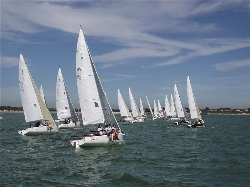 J80 racing at the Royal Southern Yacht Club