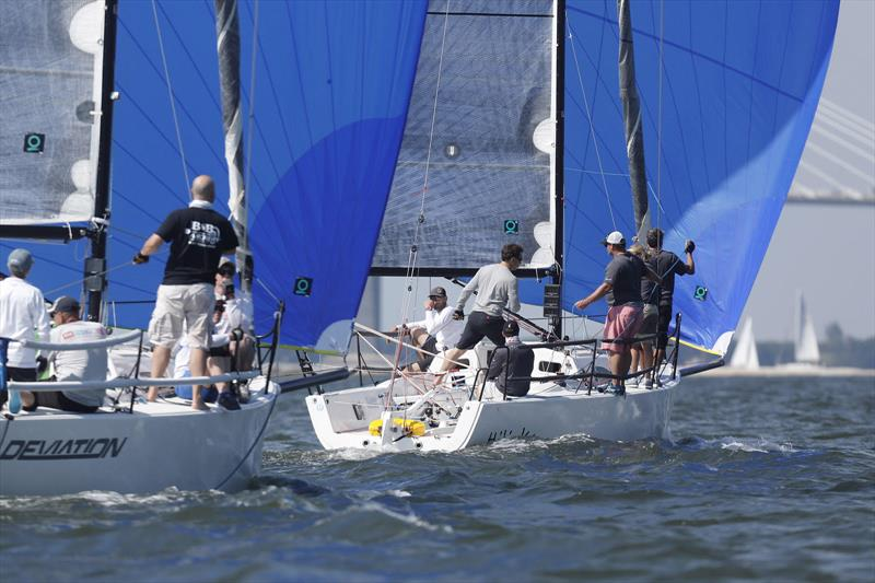 A small portion of the J/88 fleet was out practicing ahead of Sperry Charleston Race Week - photo © Charleston Race Week / Tim Wilkes
