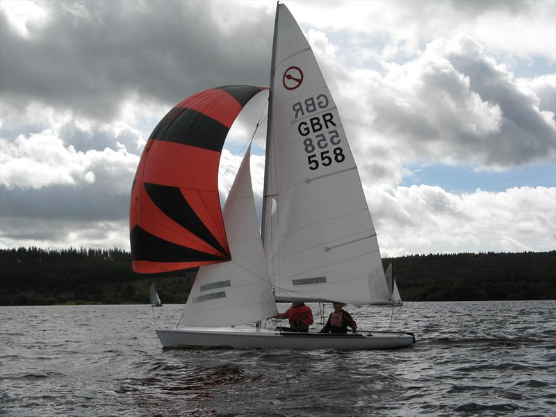 Nick Arran and Andy Cross in their Javelin at the Kielder Water September Open - photo © John Scullion