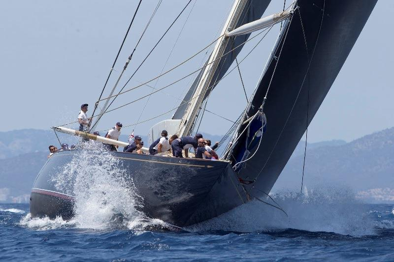 Velsheda stormed around the course to take the overall Superyacht Cup trophy - photo © Claire Matches / www.clairematches.com