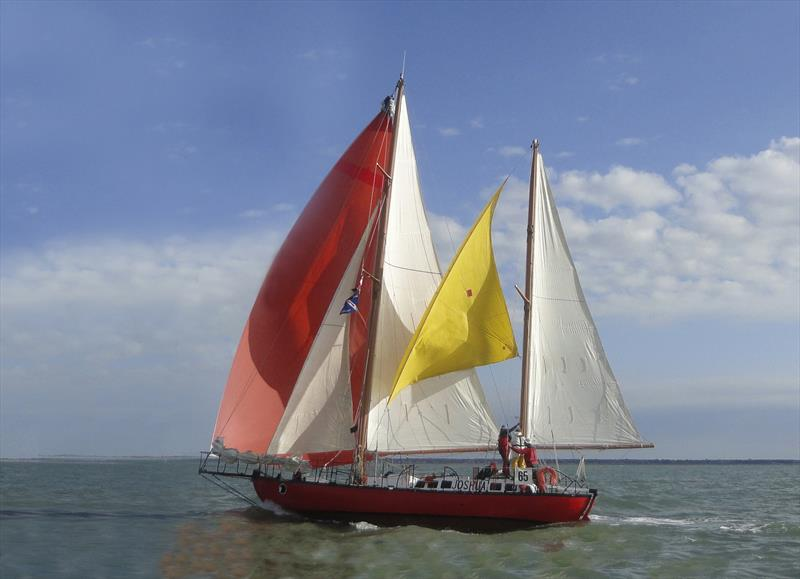 Bernard Moitessier's original Joshua under full sail - this classic yacht is now managed by the French National Maritime Museum in La Rochelle, and will attend the start of the 2018 Golden Globe Race in Plymouth next June - photo © McIntyre Adventure