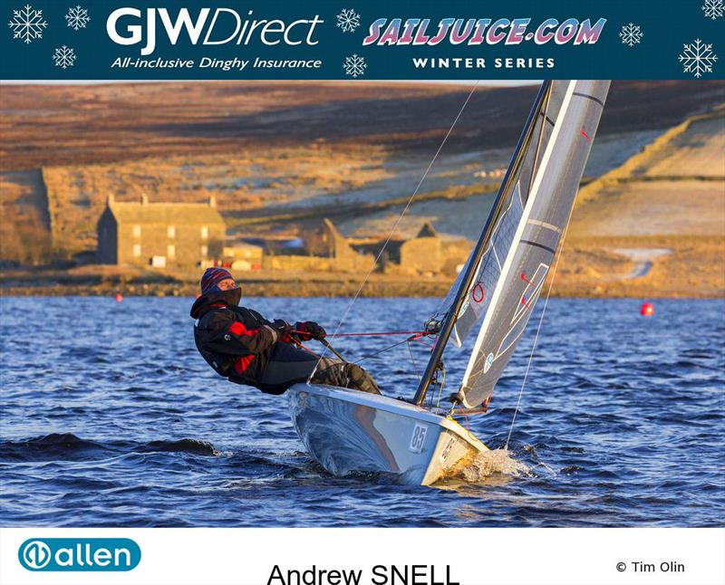 Andrew Snell finishes as runner-up in the GJW Direct SailJuice Winter Series 2017/18 photo copyright Tim Olin / www.olinphoto.co.uk taken at Yorkshire Dales Sailing Club and featuring the K1 class