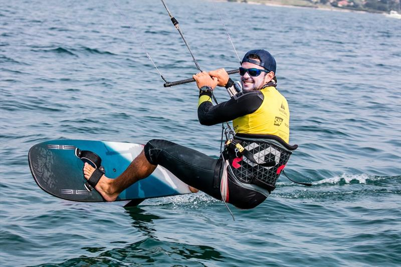 Nico Parlier dominated the Foiling Kiteboarding on day 5 of the World Cup Series Final in Santander - photo © Jesus Renedo / Sailing Energy / World Sailing
