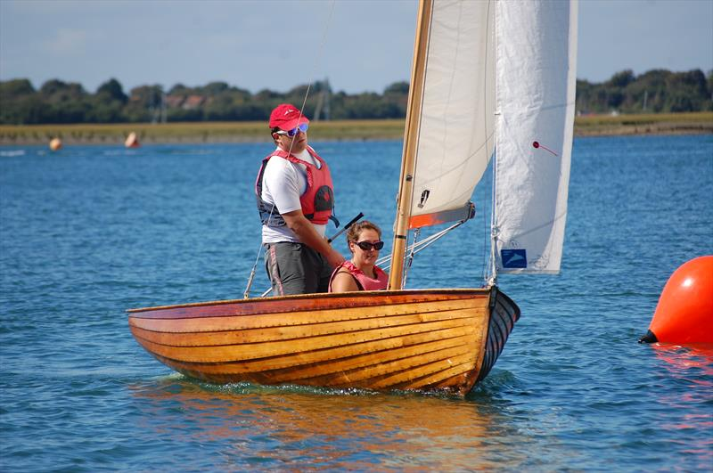John and Charlotte Fildes sailing their neatly prepared Aldeburgh Lapwing to victory in the Slow Handicap fleet at the Bosham Classic Boat Revival - photo © David Henshall