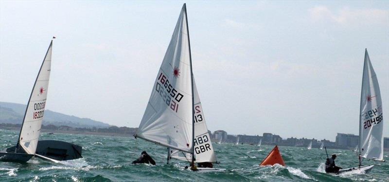 Rooster Laser Masters' Nationals at Pevensey Bay photo copyright Adrian Peckham taken at Pevensey Bay Sailing Club and featuring the Laser class
