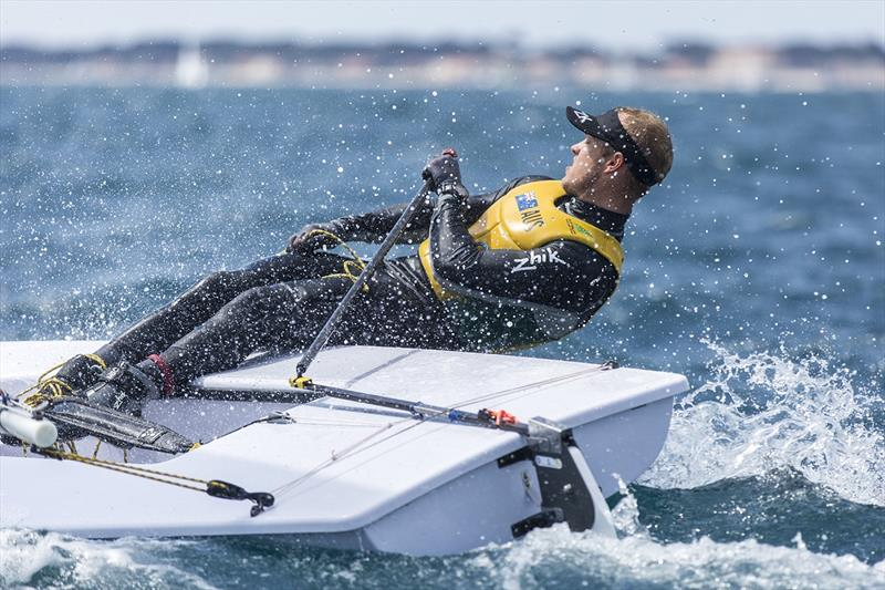 Tom Burton at Sailing World Cup Hyeres - photo © Beau Outteridge