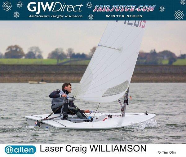 Craig Williamson wins the GJW Direct Sailjuice Winter Series Draycote Dash - photo © Tim Olin / www.olinphoto.co.uk
