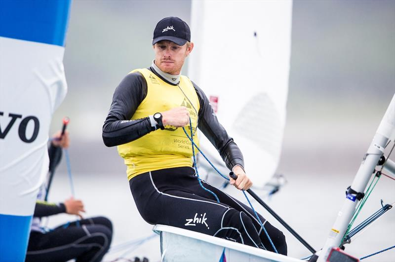 Laser Gold for Jean Baptiste Bernaz at the World Cup Series Final in Santander - photo © Pedro Martinez / Sailing Energy / World Sailing