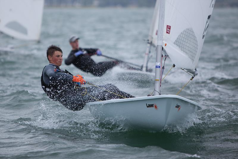 Jo Drake taking to the Standard in impressive style: Overall winner and 1st U19 in the Royal Lymington Yacht Club Youth Laser Open - photo © Christine Spreiter