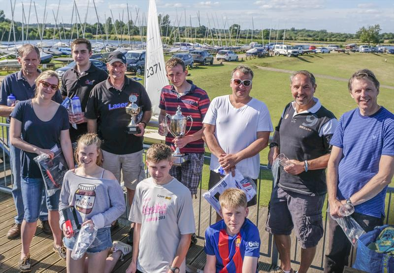 Notts County SC Laser Open prize winners - photo © David Eberlin