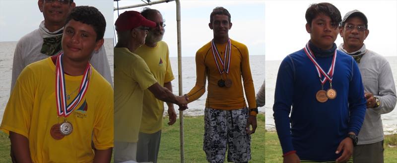 Corozal Bay Regatta Laser Winners (l-r) Joaquin Alcoser (CBSC); Trent Hardwick;Wilson Rivera - photo © BzSA/Sharon Hardwick