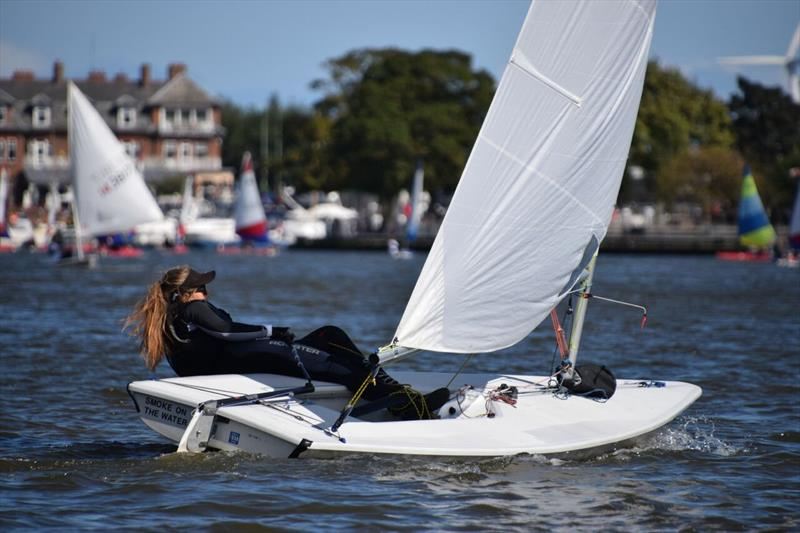 Abi Holden, winner of the Laser series at the Broadland Youth Regatta - photo © Trish Barnes