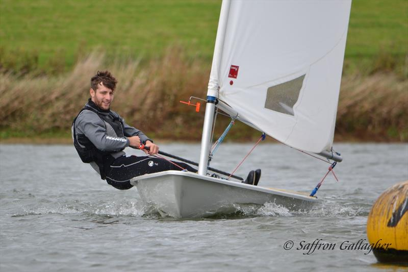 Rob Dyer in fine form to win the Laser Standard Rig at Sutton Bingham photo copyright Saffron Gallagher taken at Sutton Bingham Sailing Club and featuring the Laser class