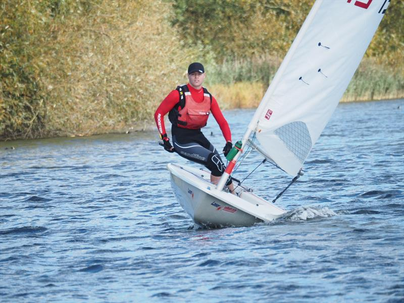 Ross Williams wins the Thames Valley Laser Open at Welsh Harp photo copyright Luke Howard taken at Welsh Harp Sailing Club and featuring the Laser class