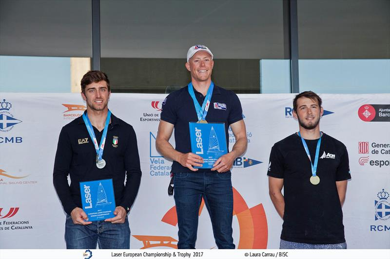 Nick Thompson wins the Laser Europeans in Barcelona - photo © Laura Carrau / BISC