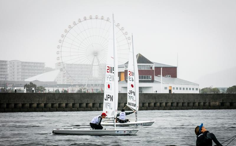 Yuichiro Kitamura ahead of the 2017-18 World Cup Series opener in Japan photo copyright Jesus Renedo / Sailing Energy / World Sailing taken at  and featuring the Laser class