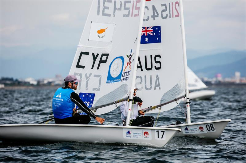 Pavlos Kontides (CYP) on day 2 of 2017-18 World Cup Series in Gamagori, Japan - photo © Jesus Renedo / Sailing Energy / World Sailing