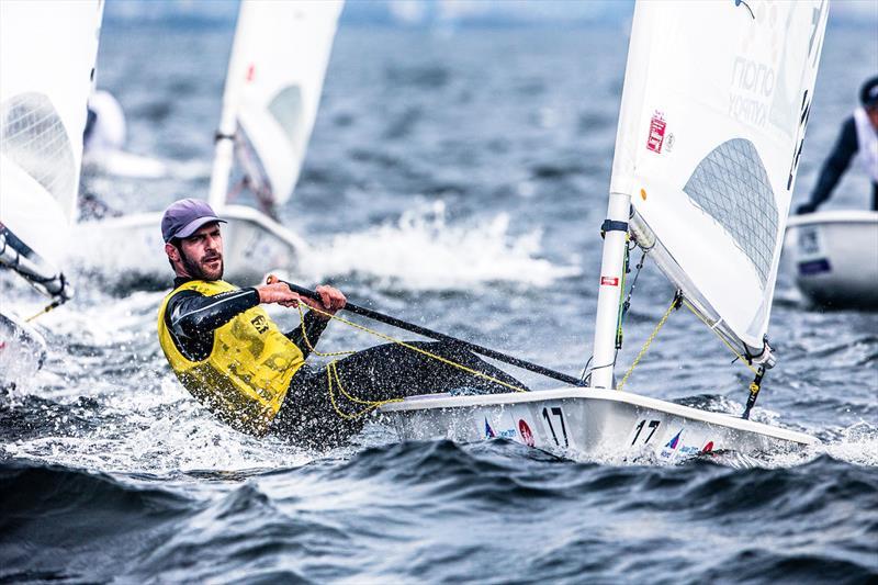 Pavlos Kontides (CYP) at the 2017-18 World Cup Series in Gamagori, Japan - photo © Jesus Renedo / Sailing Energy / World Sailing