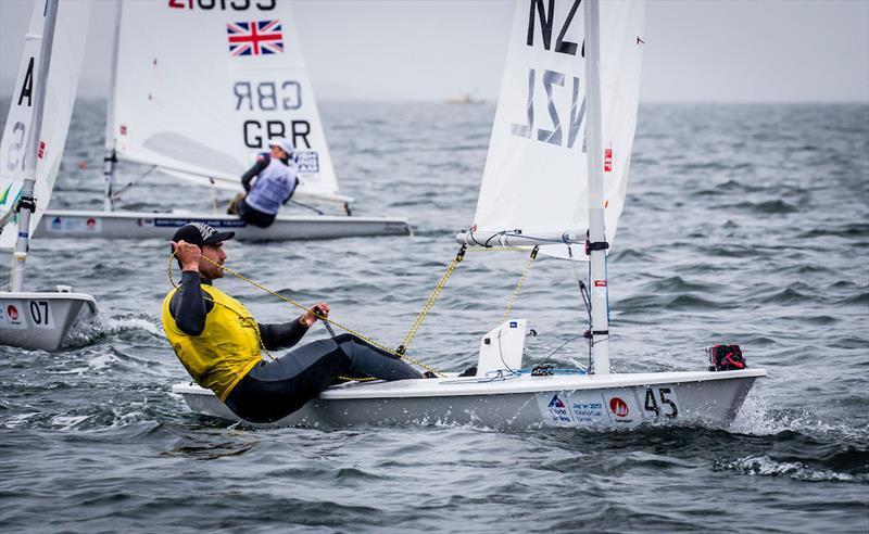 Laser Champion Sam Meech (NZL) at 2017-18 World Cup Series in Gamagori, Japan photo copyright Jesus Renedo / Sailing Energy / World Sailing taken at  and featuring the Laser class