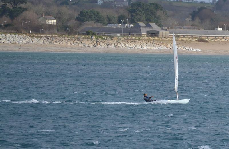 Is this a Laser hitting 18.6 knots? - photo © Jonathan Miles / Sailing Southwest