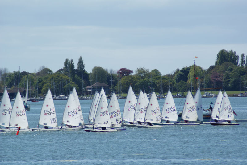 Sailors from fifteen clubs for the Laser South Coast GP at Dell Quay