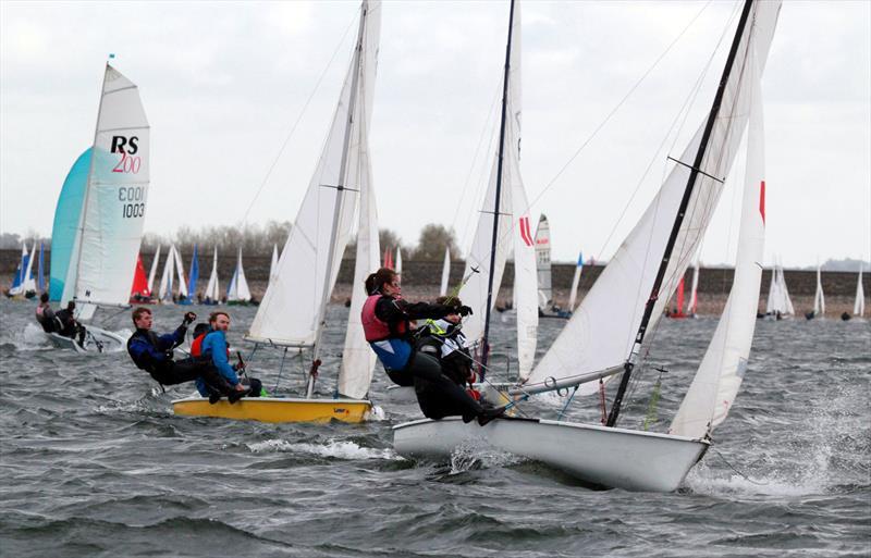 Laser 2s at the British University Fleet Racing Championships - photo © Tony Mapplebeck
