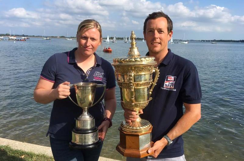 RNSA Dinghy Champions Hamish Walker and Alex Pickles win Armed Forces Gold Cup at the 2000 Millennium Series at Thorney Island - photo © Wayne Shirley