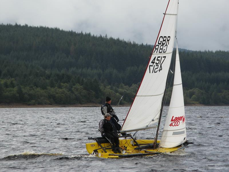 Steve Gibbon and Phil Armstrong, winners of the handicap fleet in the Kielder Water SC September Open photo copyright Judy Scullion taken at Kielder Water Sailing Club and featuring the 4000 class