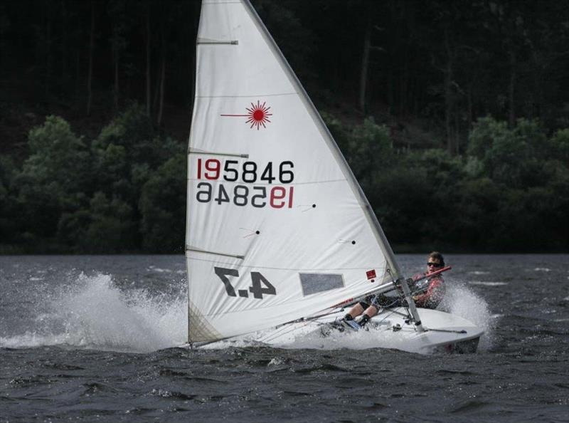 A Laser 4.7 blast reaching at The ONE Bassenthwaite Lake Sailing Week 2016 - photo © John Spittle