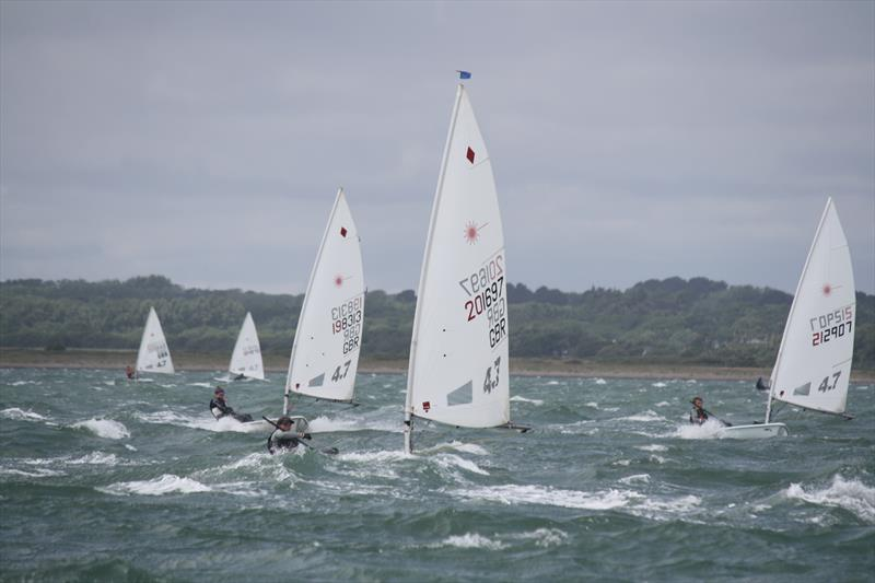 4.7 rig fleet during the Royal Lymington Yacht Club Youth Laser Open - photo © Ben Nicholls