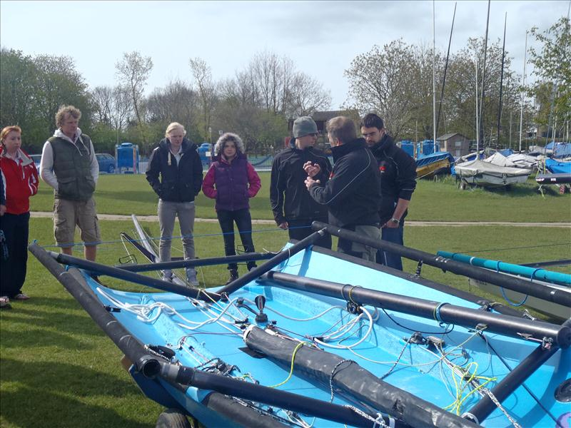 Laser 5000 training event at Grafham photo copyright Neil Luckett taken at Grafham Water Sailing Club and featuring the Laser 5000 class