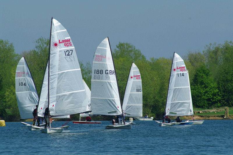 Sunshine and light winds for the Whitefriars Laser EPS open