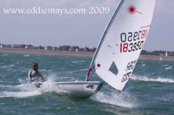 Action from the Laser Masters Nationals on Pevensey Bay